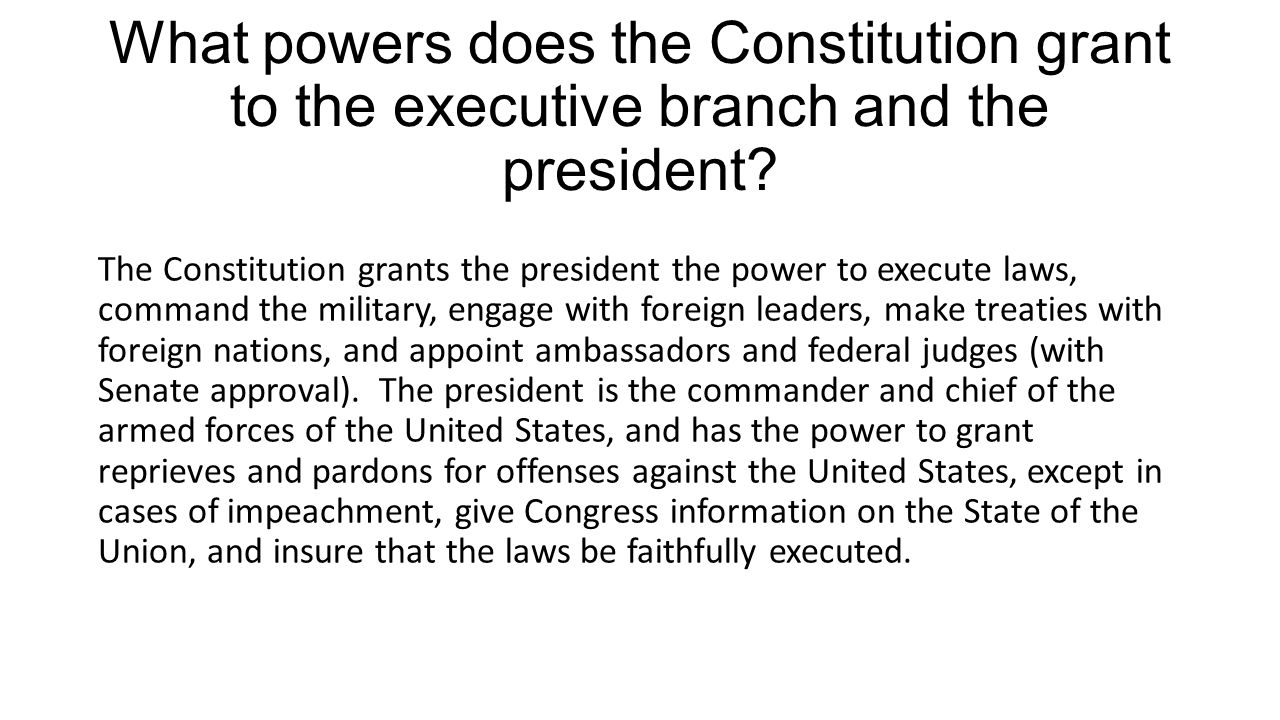 Powers of the President of the United States