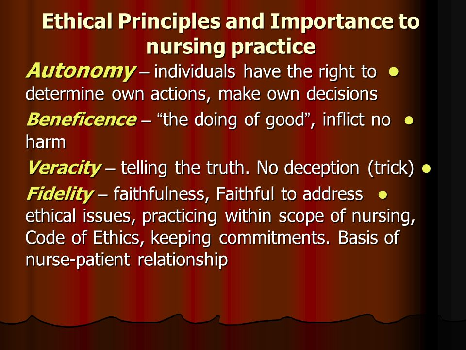 nursing ethical scenarios Ethical issues in nursing must therefore beviewed within a context of an emerging professional conscience, within a multi-disciplinary teamin which nurses have generally held a somewhat subordinate role, and in a situation wherethey havemostcontact (or could have) with patients and relatives these.