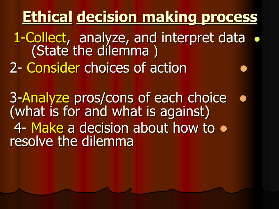 values and ethical decision making Business ethics play an important role in a company's success or failure a company has a special obligation to its customers to ensure that its decisions are legal and ethical management must set the example of a company's core values the company will forever be known for how it handles business.