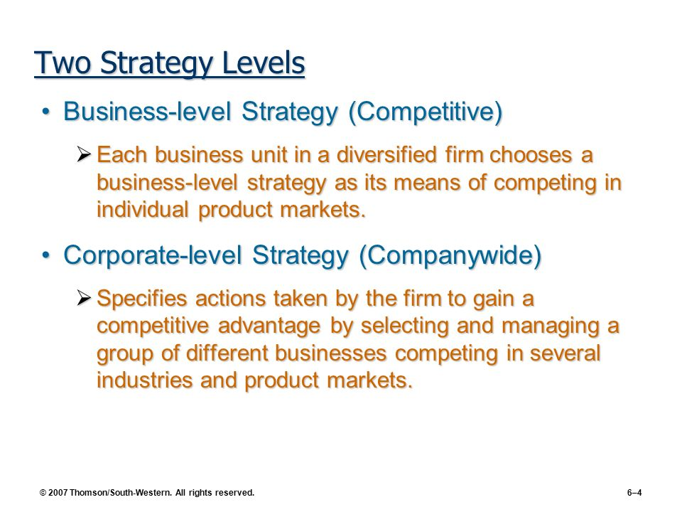 In a diversified firm corporate-level strategy is concerned with