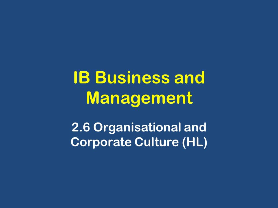ib business and management hl coursework