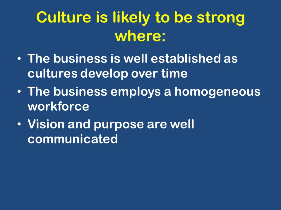 deal kennedy strong culture My favorite definition of culture comes from terrence deal and allan kennedy's  book corporate cultures:  additionally, strong leaders are open to innovation.