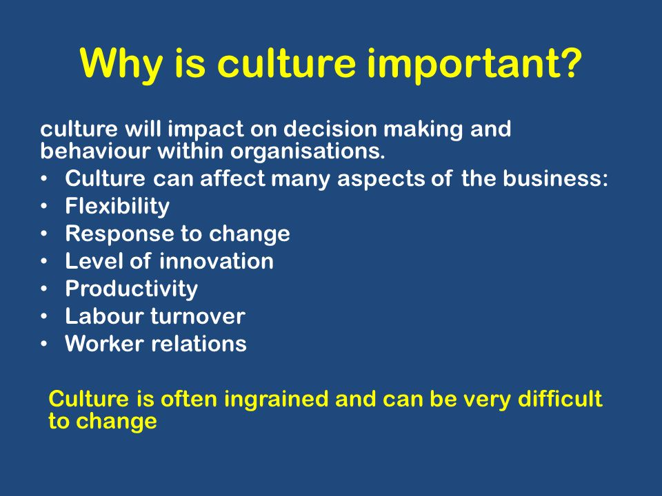 changes in the business environment why change management is important Change management is a complex process which varies according to each individual organization's needs there will be different approaches taken depending on a wide range of factors including the type of organisation, the change objectives and the external environment.
