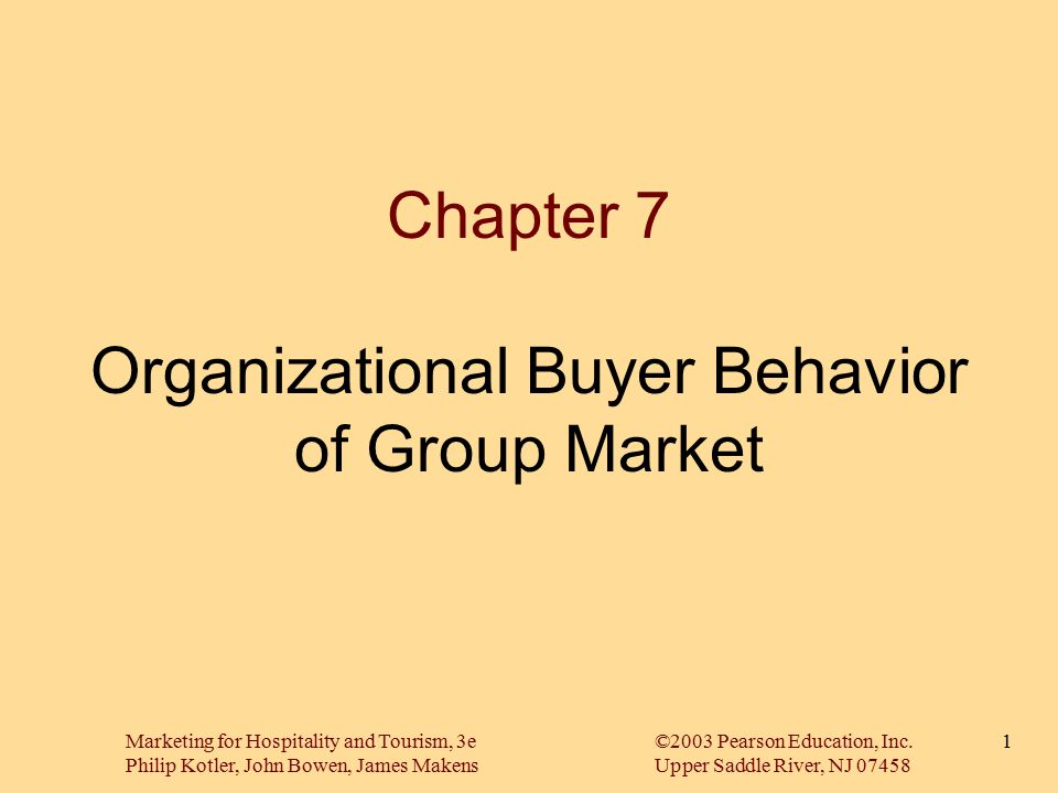 Chapter 7 Organizational Buyer Behavior Of Group Market Ppt Video