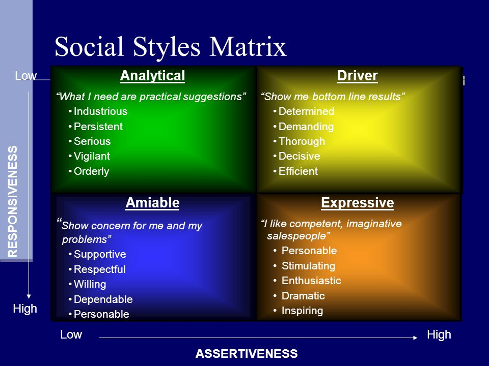 """an analysis of a driver Driver expressive example one page summary of an analysis: 7 study based on the researchs of merrill & roger, """"personal styles and effective."""