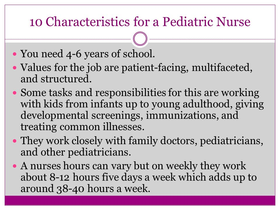 Research paper on becoming a pediatric nurse