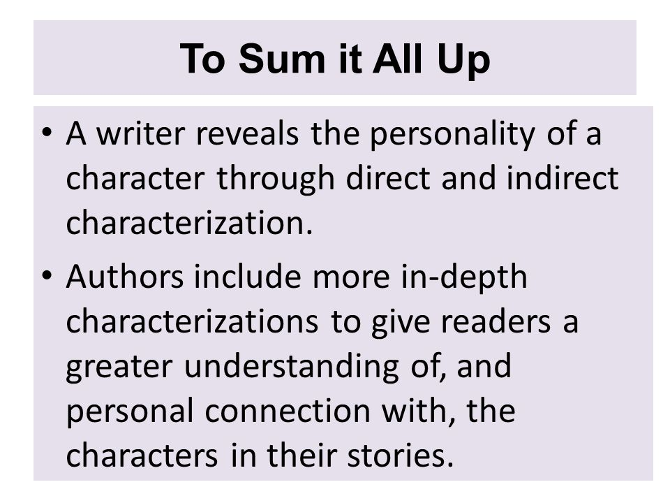EQ How do writers characterize their characters ppt download – Direct and Indirect Characterization Worksheet