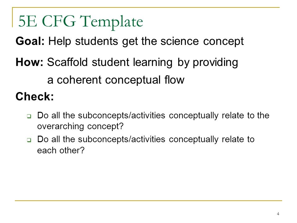 Backwards Design Step 1 Agree On The Overarching Science Concept Of The 5e Sequence Step 2