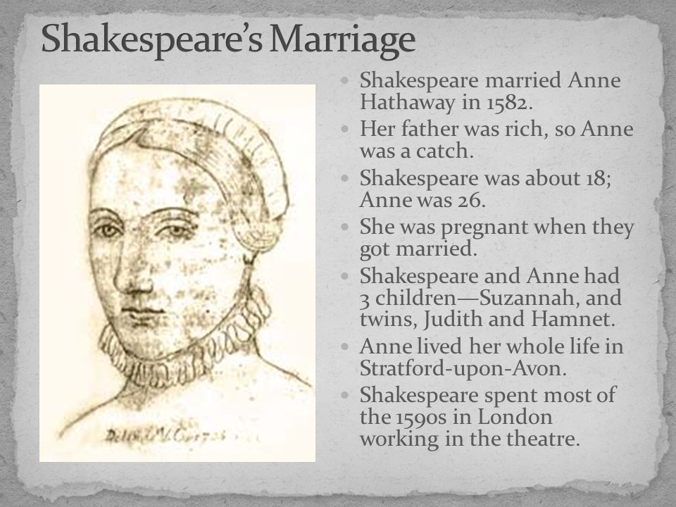 the life and works of judith shakespeare Introduction to shakespeare: life and works they then had twins in 1585, named judith and hamnet (hamnet, you say that sounds familiar.