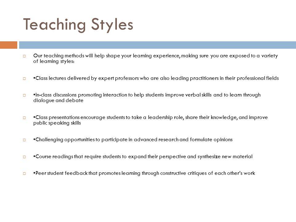 Style of pedagogical communication