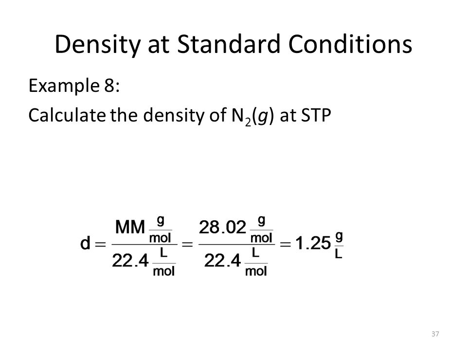 Density Of Natural Gas At Standard Conditions