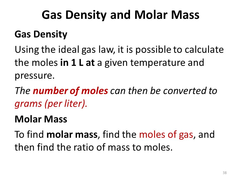 determining molar mass by ideal gas