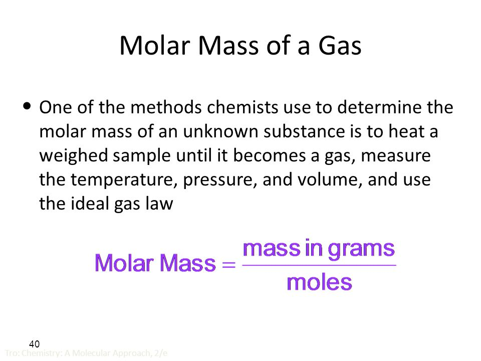 what is the molar mass of a substance