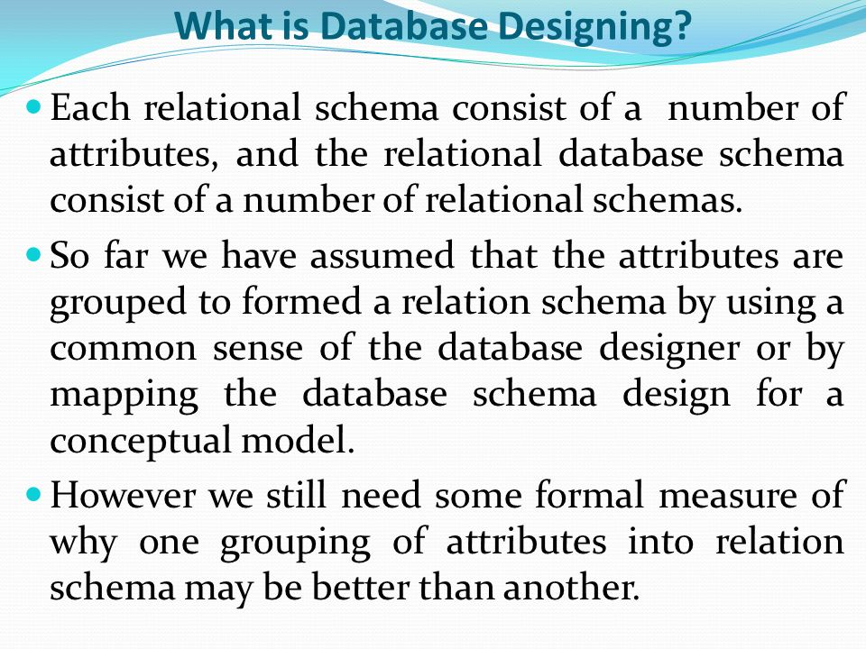 2 what is - What Is Database Designer