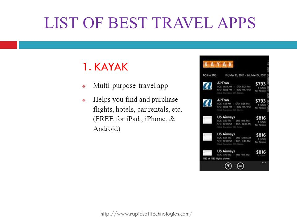 LIST OF BEST TRAVEL APPS