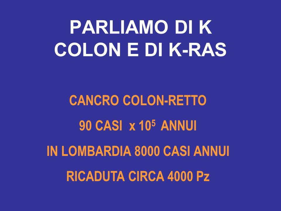 PARLIAMO DI K COLON E DI K-RAS