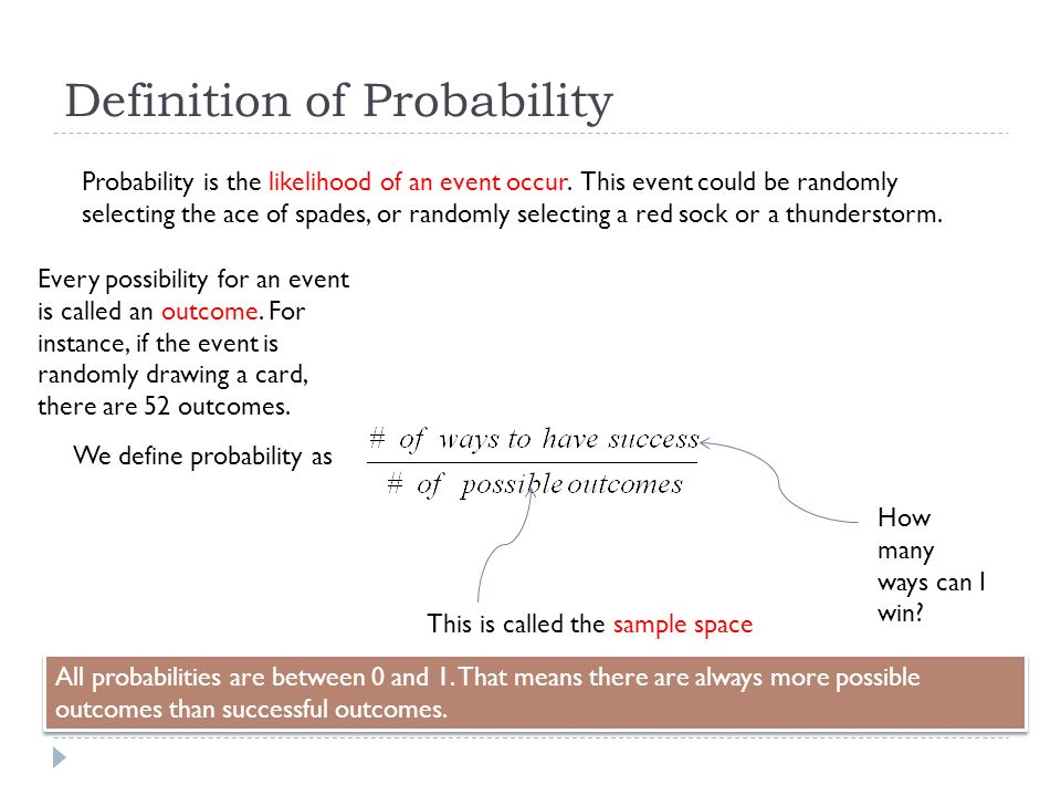 by definition the likelihood that a The likelihood of something means the odds that it will happen, or how likely a particular outcome is your likelihood of winning the lottery is pretty slim.