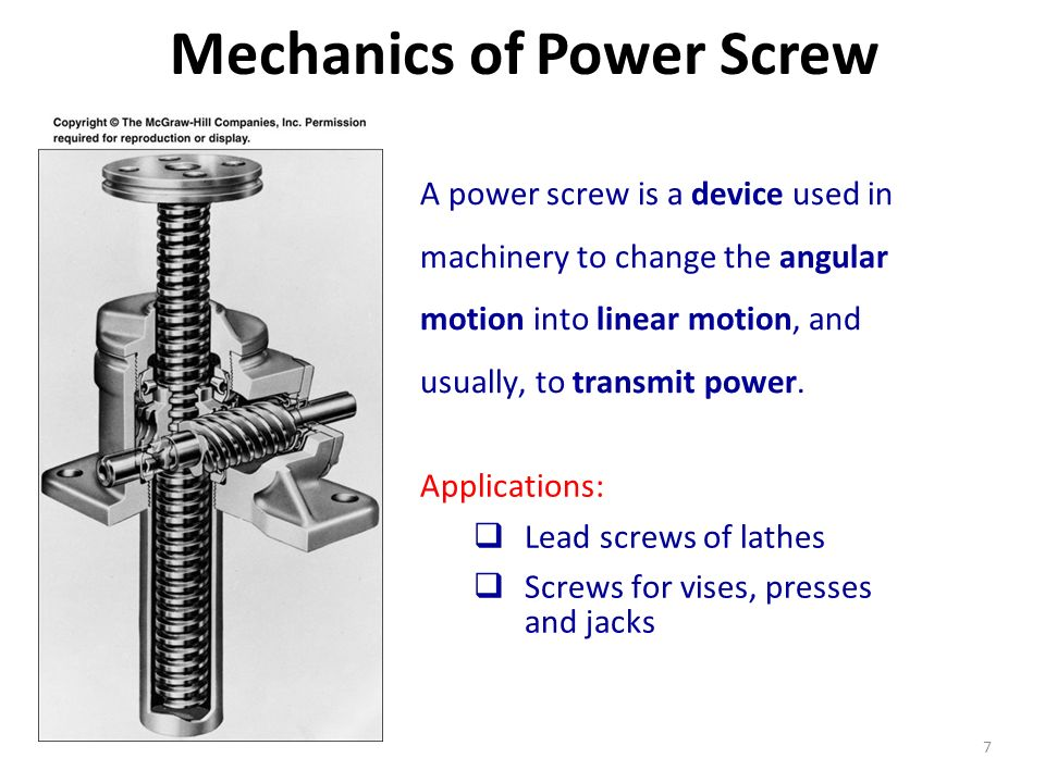 Mechanics of Power Screw