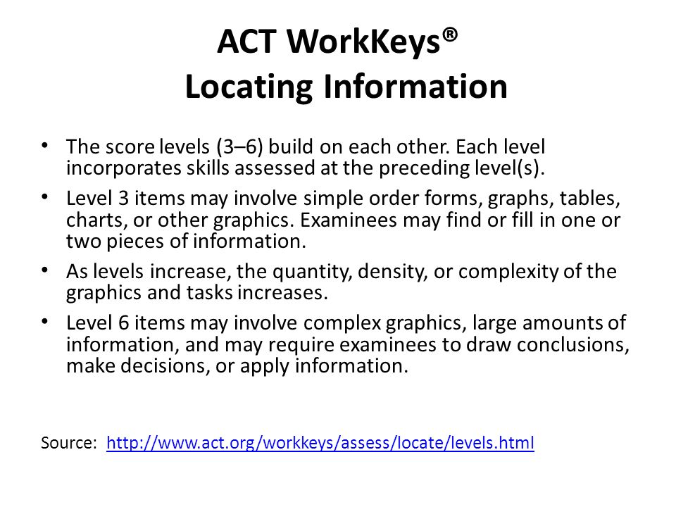 Presented by kevin fatica program manager act workkeys the act act workkeys locating information fandeluxe Choice Image