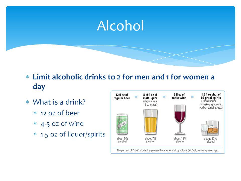alcohol limit for men