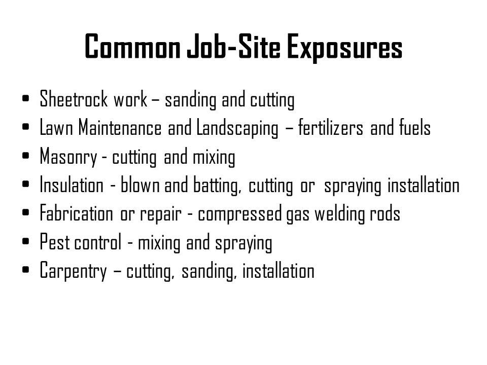 Common Job-Site Exposures