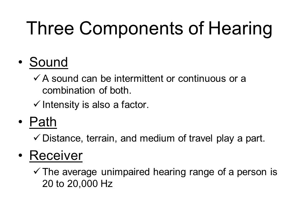 Three Components of Hearing