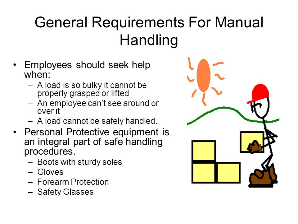 General Requirements For Manual Handling