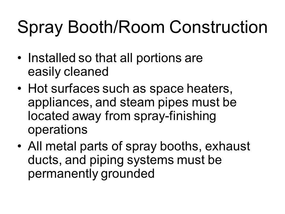 Spray Booth/Room Construction