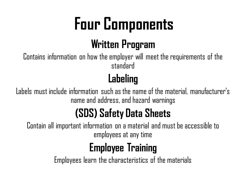 (SDS) Safety Data Sheets