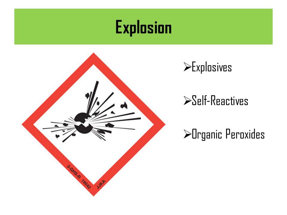 Explosion Explosives Self-Reactives Organic Peroxides