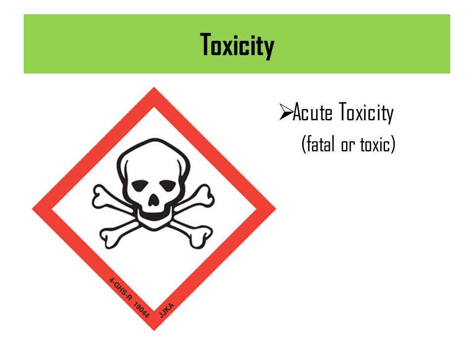 Toxicity Acute Toxicity (fatal or toxic)