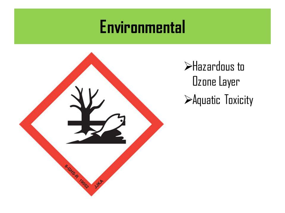 Environmental Hazardous to Ozone Layer Aquatic Toxicity