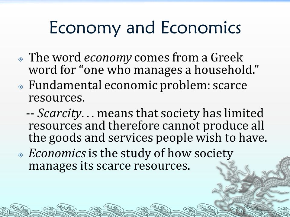 economic models for scarcity of resources Scarcity and reduce water conflicts hydro-economic models represent spatially  distributed water resource systems, infrastructure, management options and.