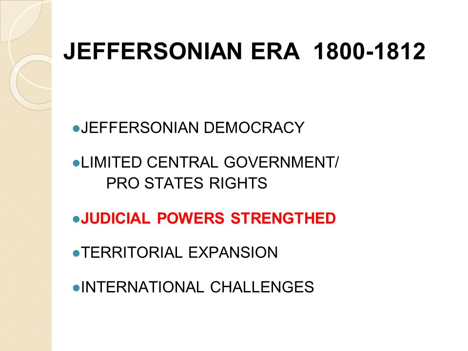Jeffersonian era