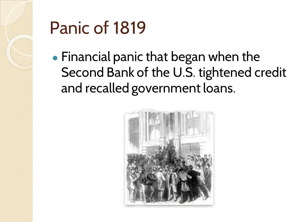 financial panic of 1819 financial panic of 1819 period in