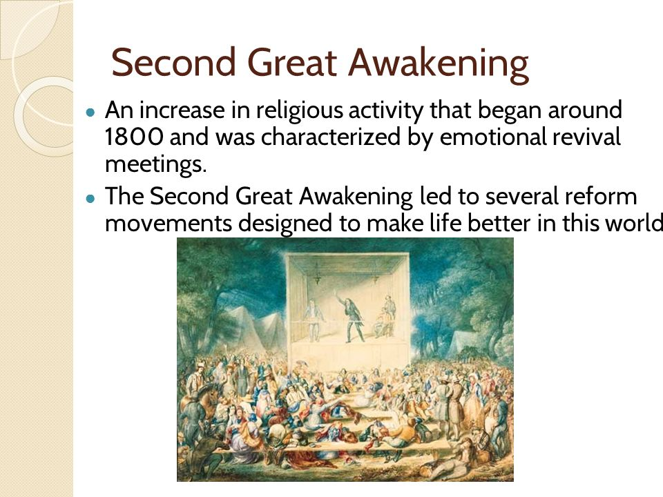 a study of the great awakening In the 1730s, there was a change in the way people viewed religion this shift was called the first great awakening, and it has influences that can.