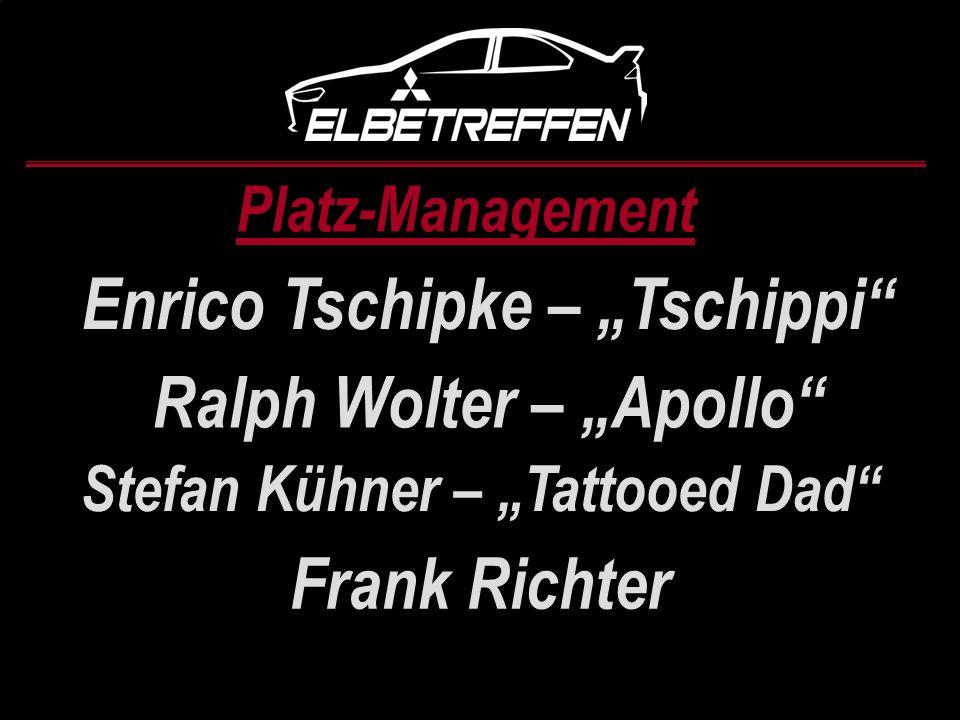 "Enrico Tschipke – ""Tschippi Ralph Wolter – ""Apollo Frank Richter"