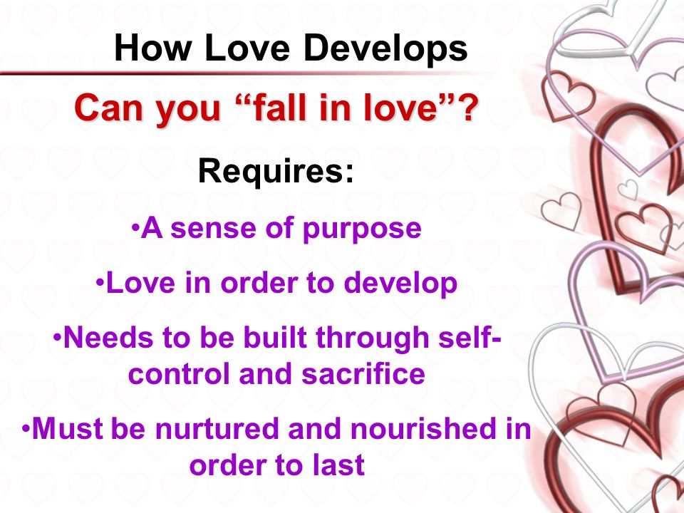 how does love develop