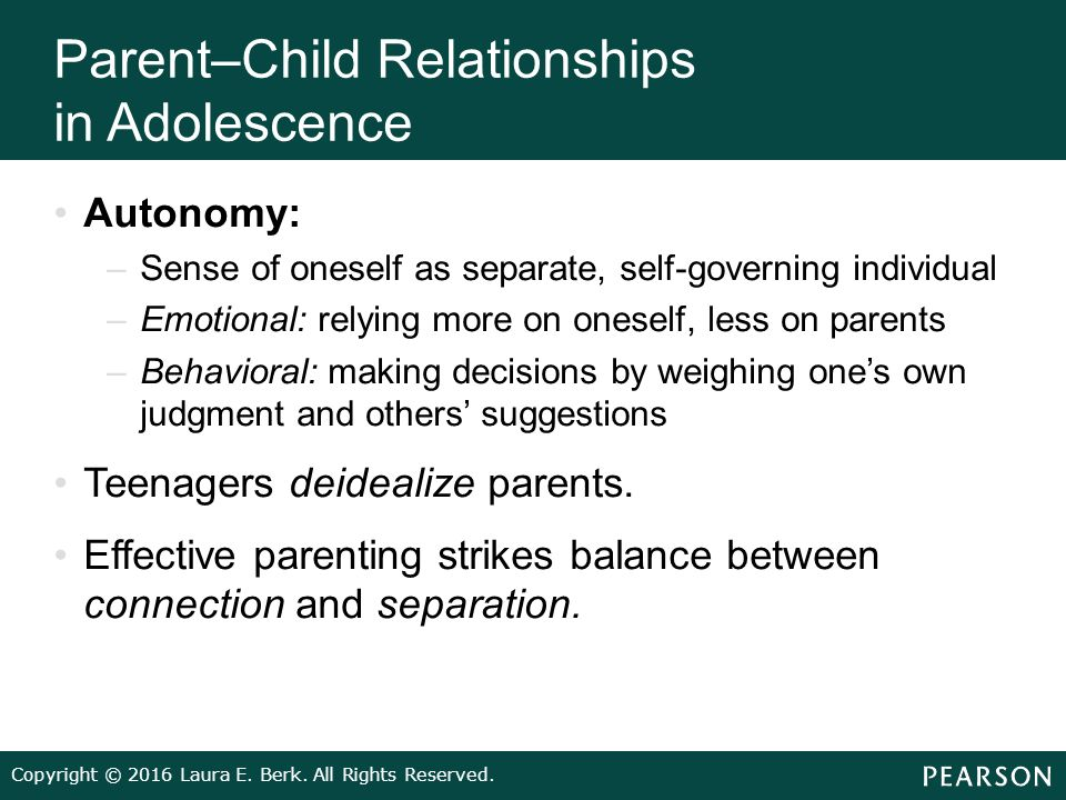 parent adolescent relationship activities for health