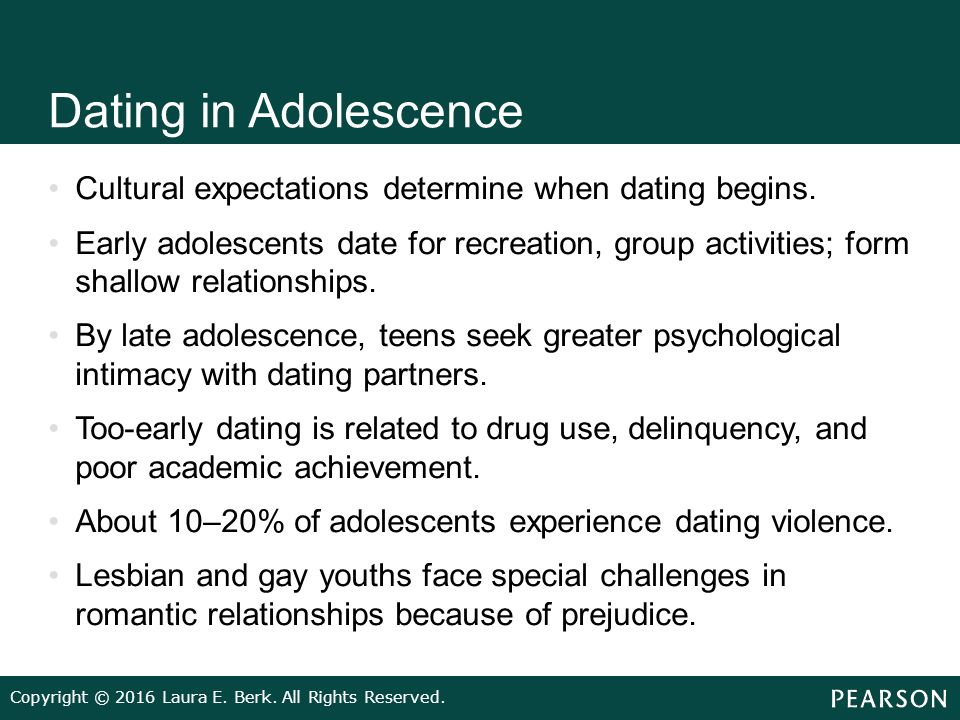 ACT for Youth - Sexual Development - Romantic Relationships in Adolescence