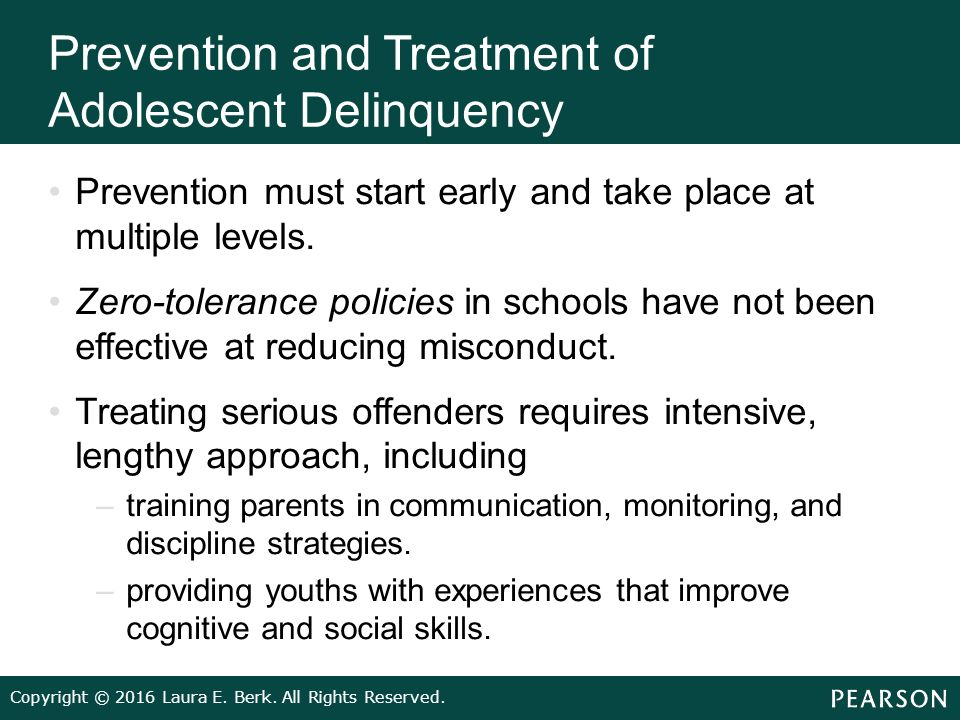 the state of juvenile delinquency prevention and treatment essay An essay on juvenile crime it seems that the problem has only focused on punishment and very little on prevention or therefore not the same treatment.