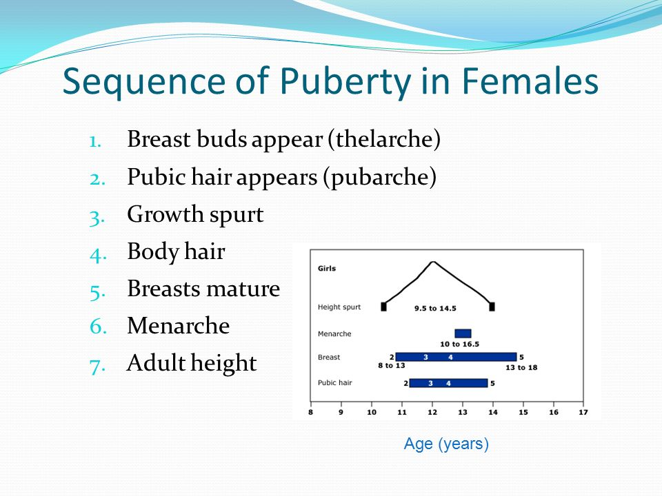 Sequence of Puberty in Females