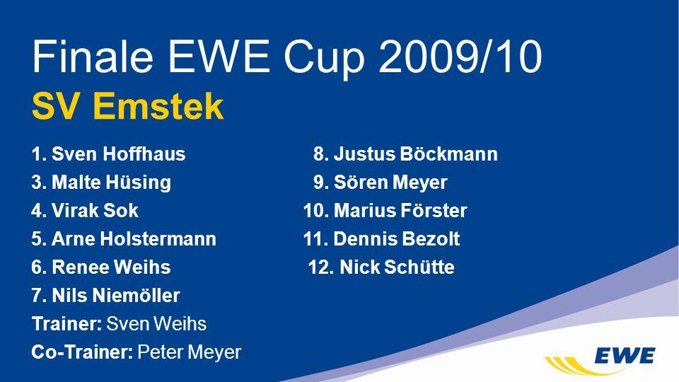 Finale EWE Cup 2009/10 SV Emstek 1. Sven Hoffhaus 8. Justus Böckmann