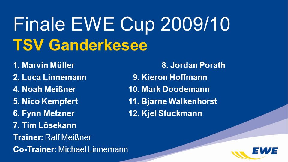 Finale EWE Cup 2009/10 TSV Ganderkesee