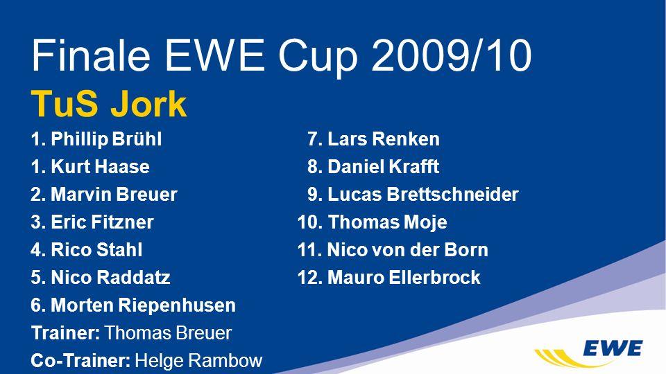 Finale EWE Cup 2009/10 TuS Jork 1. Phillip Brühl 7. Lars Renken