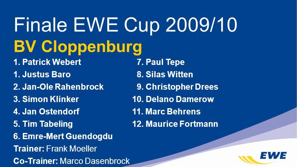 Finale EWE Cup 2009/10 BV Cloppenburg 1. Patrick Webert 7. Paul Tepe