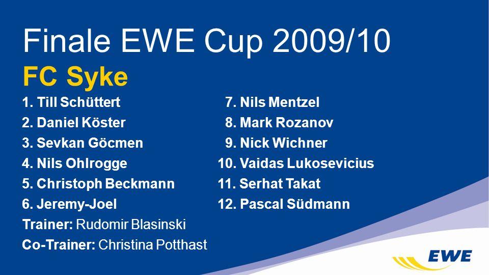 Finale EWE Cup 2009/10 FC Syke 1. Till Schüttert 7. Nils Mentzel