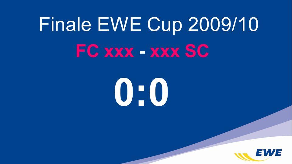 Finale EWE Cup 2009/10 FC xxx - xxx SC 0:0
