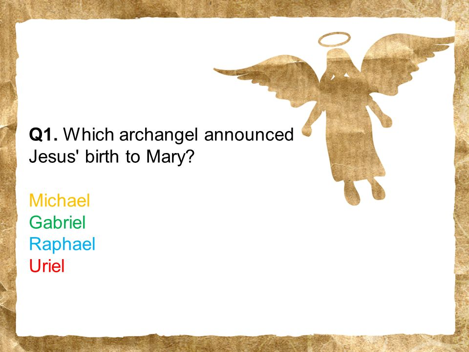 The Christmas quiz ppt download – Who Announced the Birth of Jesus