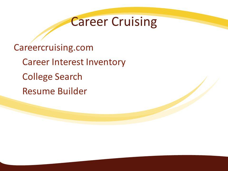 27 career cruising careercruisingcom career interest inventory college search resume builder